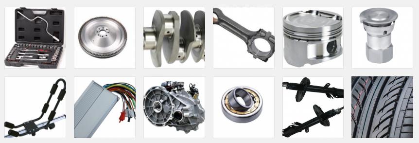 Neumáticos y piezas de automoción fabricadas a bajo coste en Asia