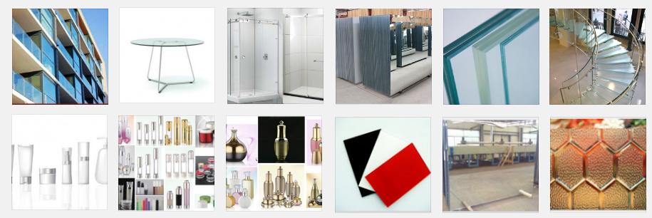 Fabricación a medida e importación de artículos de vidrio, vidrio industrial y envases