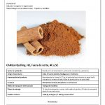 Catálogo de canela y sésamo de importación con precios actualizados